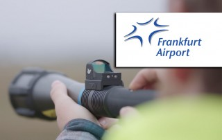 Frankfurt Airport uses the Aerolaser Handheld, a very safe bird control tool.