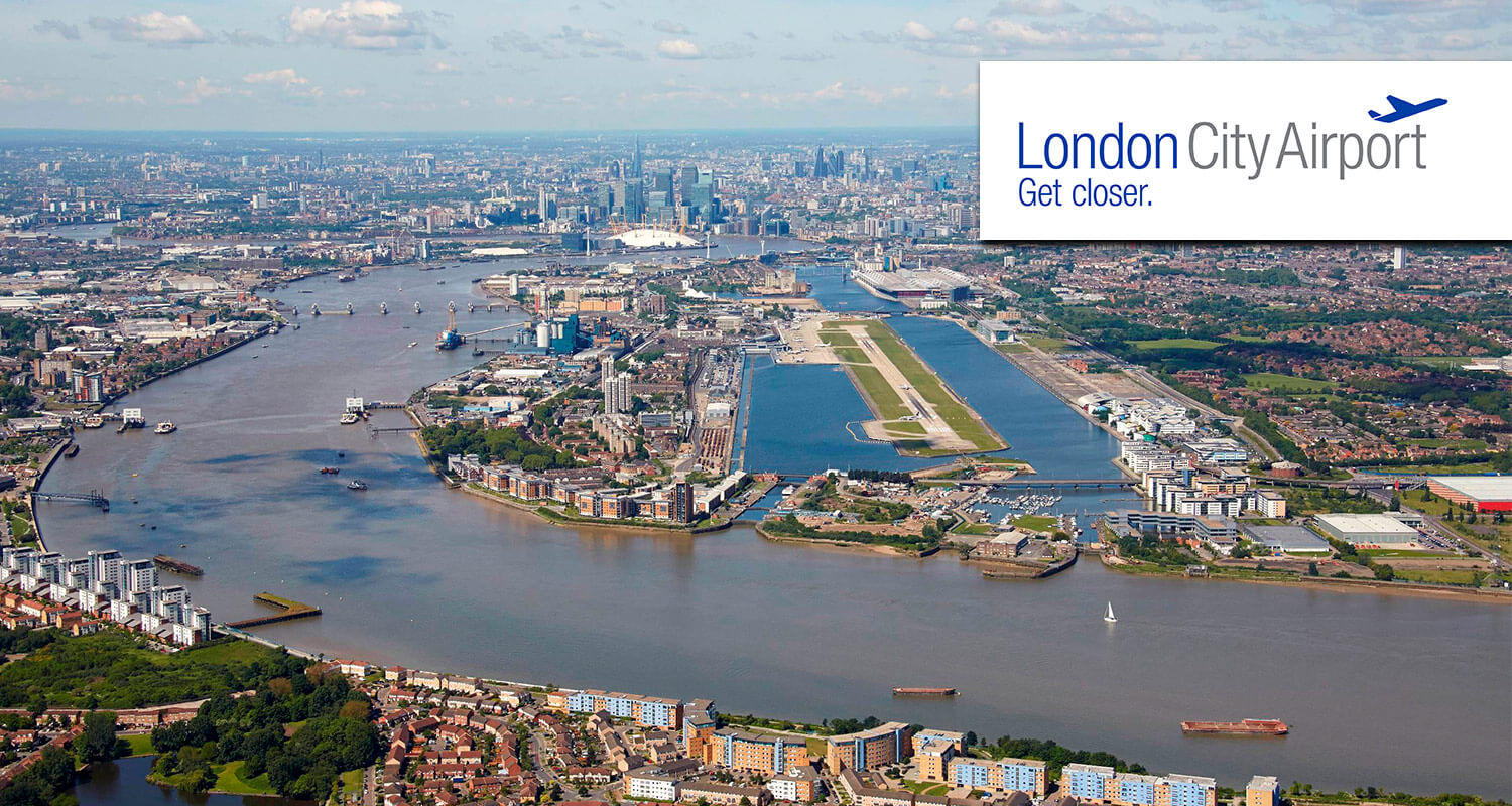 london city airport, UK