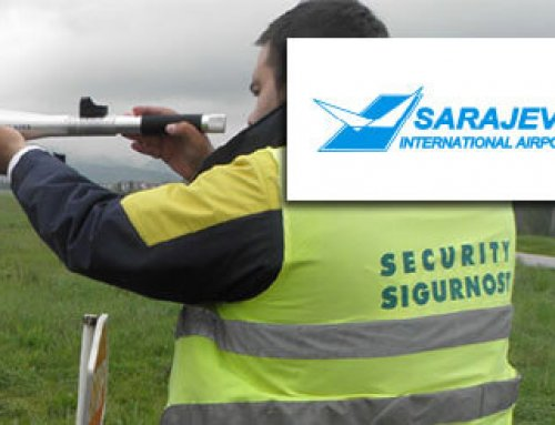 Bird deterrents at Sarajevo Airport in Bosnia and Herzegovina