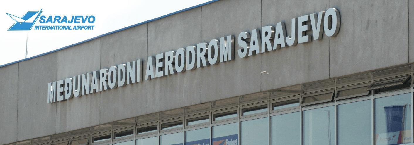 Sarjevo Airport, main international airport in Bosnia and Herzegovina