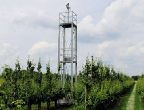 Kraaien verjagen met de Autonomic bij Perenkwekerij Vermeer Fruit in Goirle