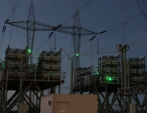 Bird deterrent laser prevents substation power outages