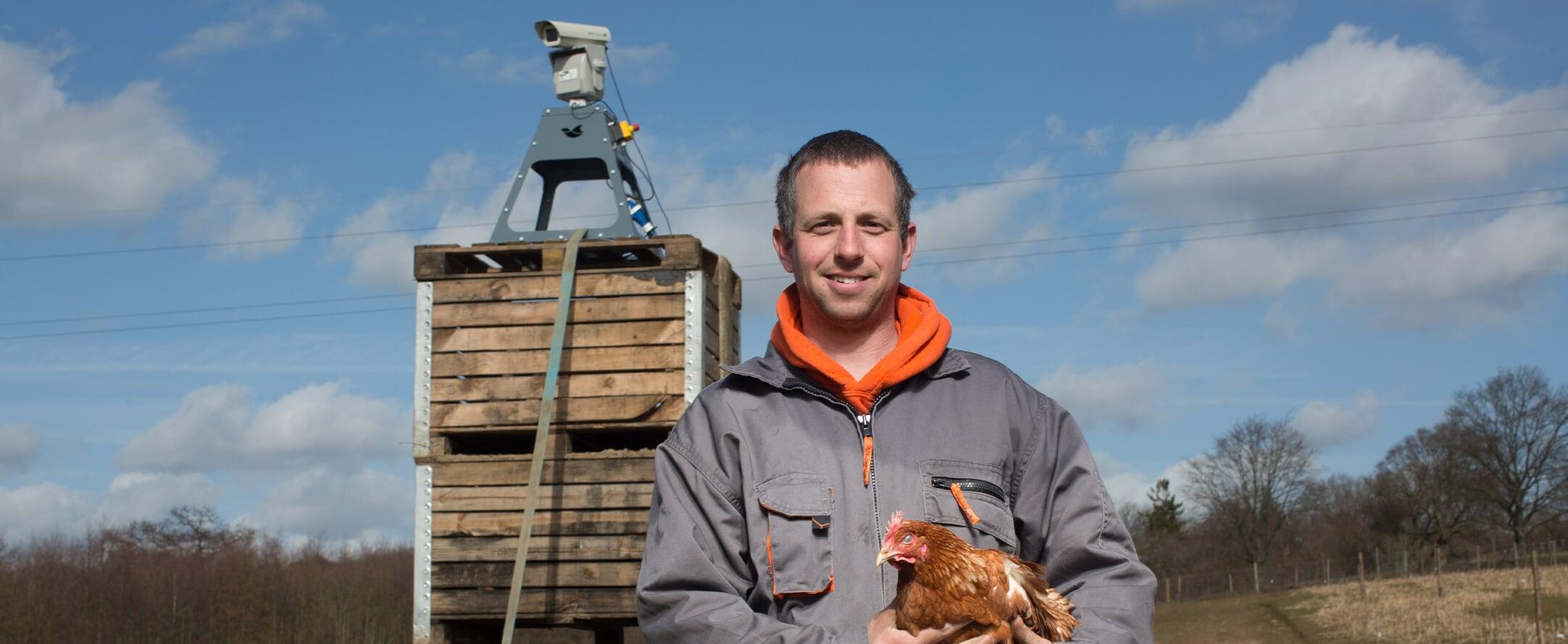 Laser bird deterrent as biosecurity measure